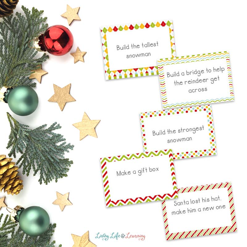 STEM Challenge cards for Christmas