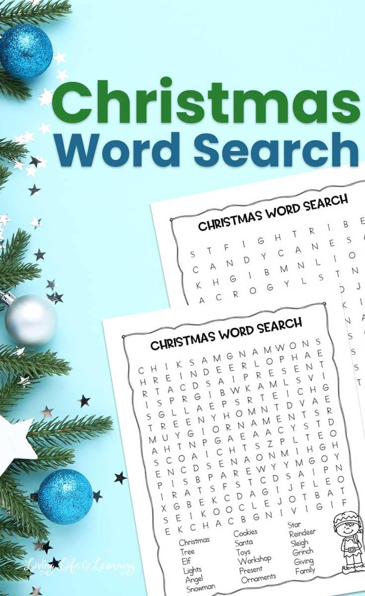 Fun Christmas Word Search for Kids