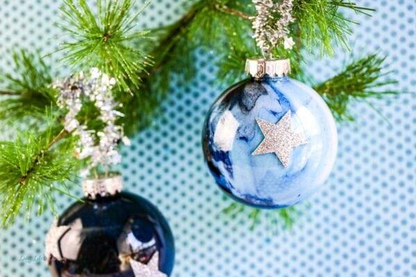 DIY Galaxy Ornaments