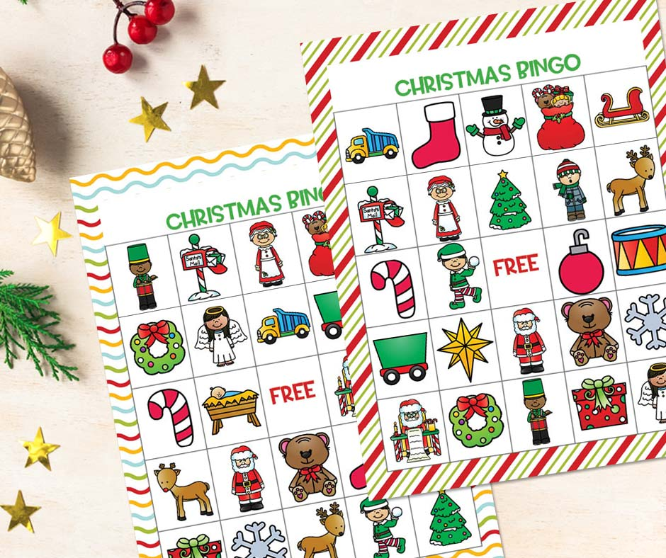 At Christmas, bring the family together with this cute Christmas bingo printable. And enjoy all the benefits, fun and laughter together.