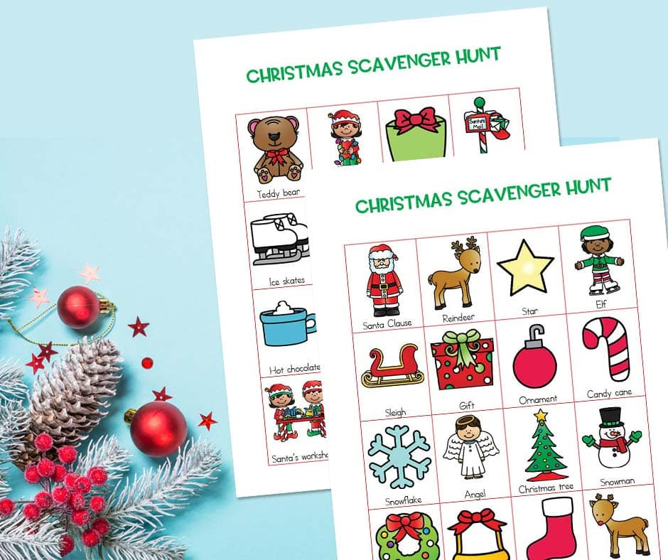 Ready for another fun Christmas holiday activity? Take the whole family on a Christmas scavenger hunt for kids!