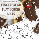 Gingerbread Man Play Dough Counting Mats