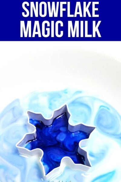 Winter Magic Milk Experiment