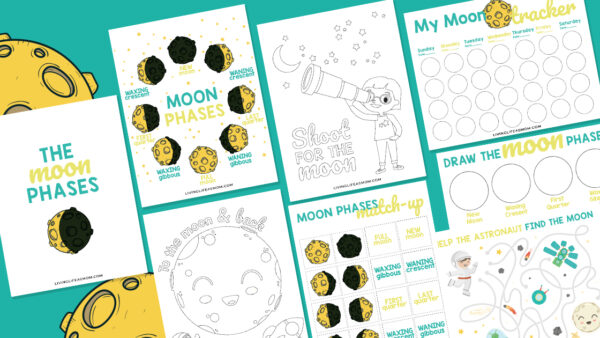 Moon phases worksheets, coloring pages, a match game, a moon tracker, and more.