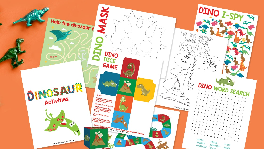 dinosaur printable activities for kids