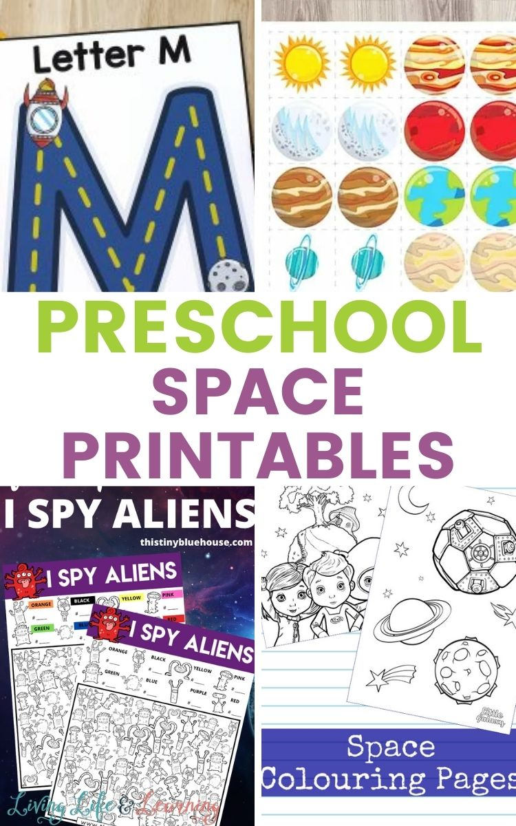 Preschool Space Printables