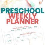 Preschool weekly planner template