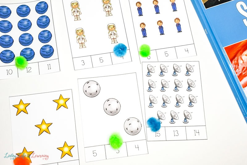 Space Counting Cards Printables
