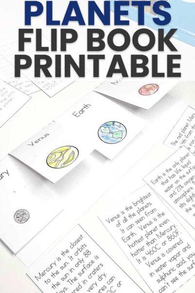 Fun Planets Flip Book Printable