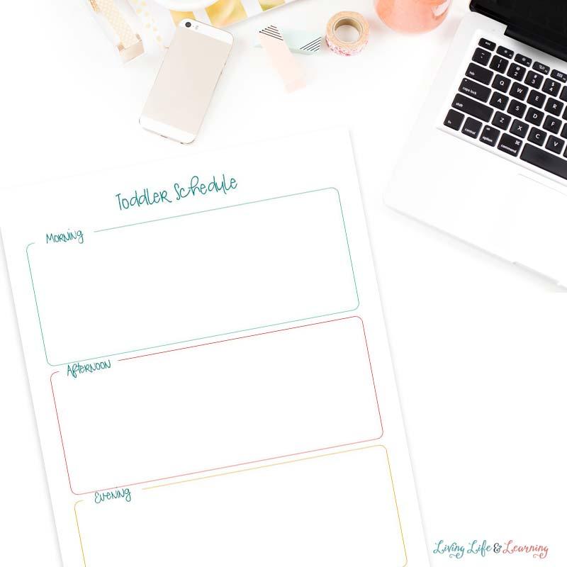 toddler printable schedule