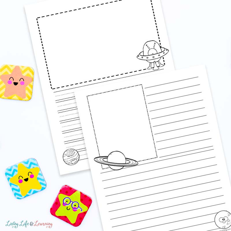 space notebooking pages