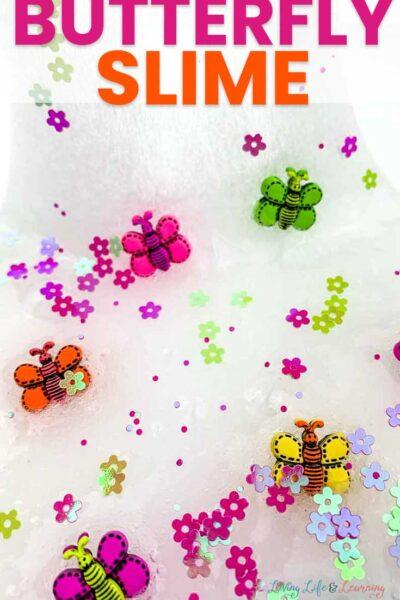 Butterfly slime recipe