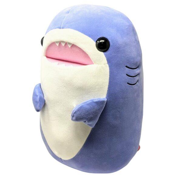 Soft blue shark stuffed animal
