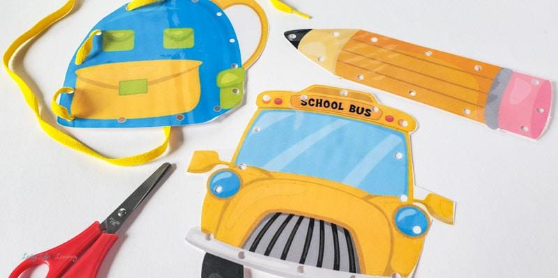 Back to School Lacing Cards