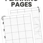 lesson planning pages