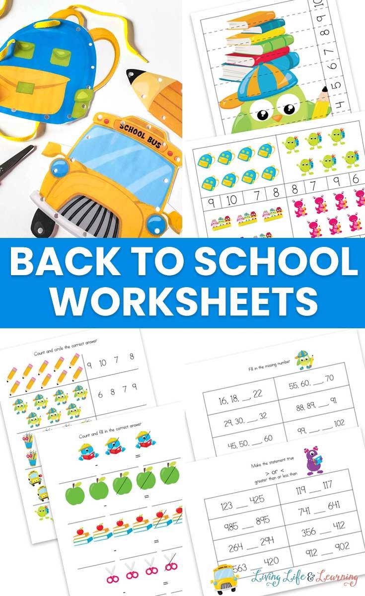 Back to School Worksheets for Kids