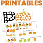 Pumpkin Preschool Printables