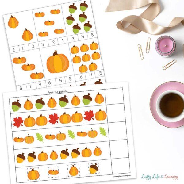 Pumpkin Printables for preschool